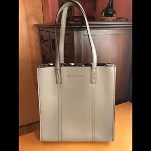 Marc Jacobs Leather Tote in Storm Grey